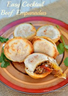 Serve these tasty Empanadas as an appetizer or as part of a savory party platter ~ can be made in the oven or by using a Babycakes Cupcake Maker
