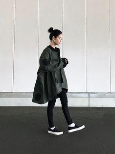 Instagram▷yuki_takahashi0706 オーバーサイズのジャケットにスキニ