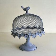 Bird Mesh Footed Cake Stand
