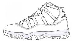 Blue Air Jordan Retro 11 Drawing Legend cakepins.com
