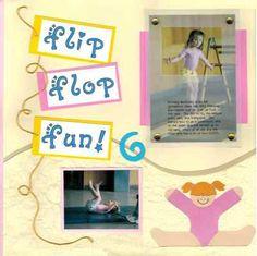 Gymnastics scrapbook page