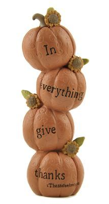 Give Thanks Stacked Pumpkins