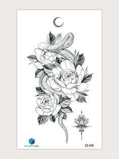 Flor Tattoo, Ab Tattoo, Cute Tattoos, Tatoos, Ink Addiction, Snake Patterns, Tattoo Inspiration, Kawaii, Stamp
