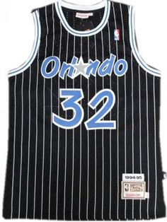 1417d450e NBA Orlando Magic Shaquille O Neal Swingman Basketball Jersey Black