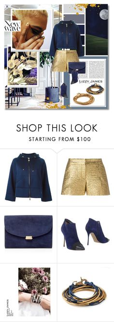 """Into the club -  Lizzyjames.com"" by undici ❤ liked on Polyvore featuring Moncler, Lanvin, Mansur Gavriel, Nicholas Kirkwood, Lizzy James, Anja, jewelry, bracelet, earrings and accessories"