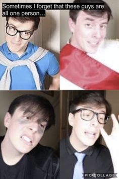 Only thomas sanders can pull of having split personalities