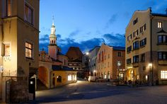 Hall in Tirol, Austria   Take a 10-minute commuter train from Innsbruck straight into what feels like the Middle Ages.