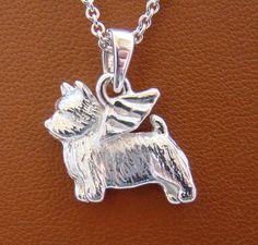 Sterling Silver Norwich Terrier Angel Pendant by Norwich Terrier, Angel Pendant, Dog Jewelry, Gift List, Dog Breeds, Fashion Jewelry, Pendants, Chain, Sterling Silver
