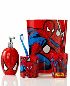 Marvel Bath Accessories, Spiderman Sense Collection - - Macy's Maybe just one item for the bathroom.