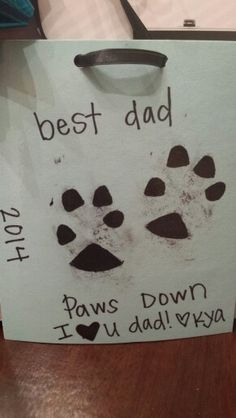 Fathers day gift from dog to owner