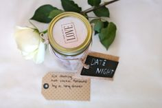 A jar of personalized date night cards for a fun Valentine's Day gift! Found @marshalls {www.theclosetandthecook.com}