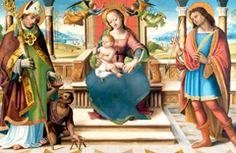"""""""Madonna col Bambino in trono tra i Santi Sebastiano e Martino"""" 1510-1515 ca. Maestro di Tavarnelle - Museo di arte sacra Tavarnelle Val di Pesa"""