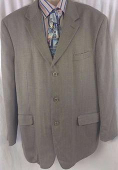 JNY Jones New York Sport Coat Mens Size 46R Houndstooth Wool 3 Button Vintage #JoneNewYork #ThreeButton