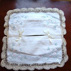 Vintage Tissue Box Cover Linen Embroidered by LadiesMercantile, $7.99 - SOLD!