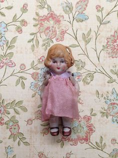 Teeny Tiny Mini Vintage Antique German Bisque Doll
