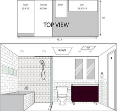 Illustrated Layout For Bathroom