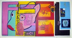 Feel, 1996. Acrylic and collage on canvas.