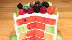 Triple Melon Cake (Watermelon Cake, Honeydew Cake, Cantaloupe Cake) – No Bake Dreifacher Melonenkuchen (Wassermelonenkuchen, Honigtaukuchen, Kantalupenkuchen) – kein Backen Cheap Clean Eating, Clean Eating Snacks, Healthy Eating, Recipe For Lemon Coconut Cake, How To Make Cake, Food To Make, Eating Carrots, Dessert Aux Fruits, Salty Cake
