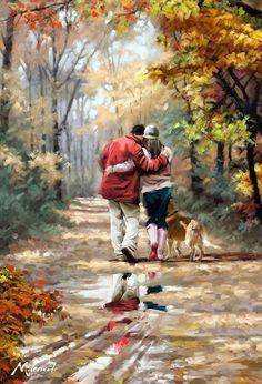 Um Casal Caminhando