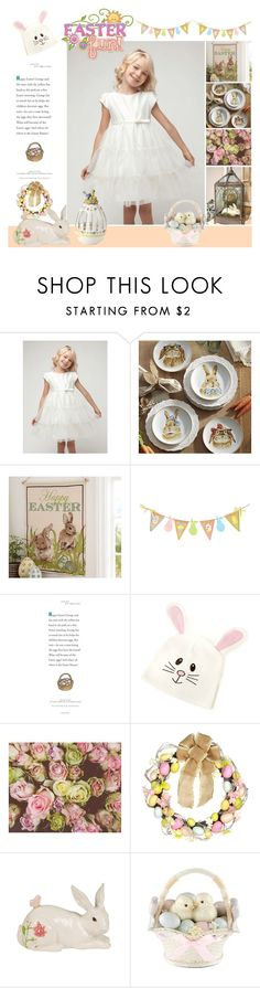 """""""Decorate Your Easter Egg"""" by yours-styling-best-friend ❤ liked on Polyvore featuring interior, interiors, interior design, home, home decor, interior decorating, Pier 1 Imports, Pottery Barn, Fitz and Floyd and Lenox"""