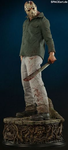 Freitag der 13. (Teil 3): Jason Voorhees - Legend of Crystal Lake, Statue / Premium Format Figur ... https://spaceart.de/produkte/fdd015.php