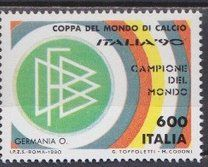 #Футбол ЧМ-90 Италия 1990 1Р Италия Ф90-107  - 1 р. #  MNH: MNH Футбол