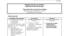 Prácticas del Lenguaje: PROYECTO REESCRITURA DE UN CUENTO CON LOBO