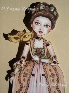 The Duchess-Carnival paper doll, by Katy and the Cat, 10,00 € su misshobby.com