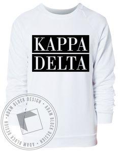 Kappa Delta Block Sweatshirt by Adam Block Design | Custom Greek Apparel & Sorority Clothes | www.adamblockdesign.com