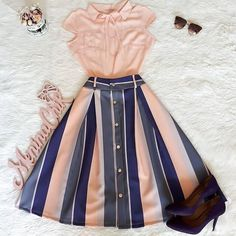 #womensfashionformal Modest Outfits, New Outfits, Skirt Outfits, Spring Outfits, Cool Outfits, Dress Skirt, Church Outfits, Moda Fashion, Hijab Fashion