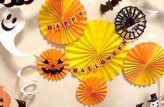 Dollar Store Halloween, Halloween Art, Halloween Treats, Paper Rosettes, Paper Flowers, Halloween Activities, Dollar Stores, Party Planning, Diy And Crafts