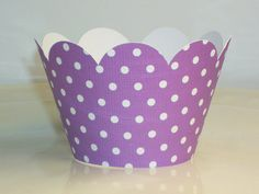 NEW  Purple Polka Dot Cupcake Wrappers birthday by PartyTreatsShop
