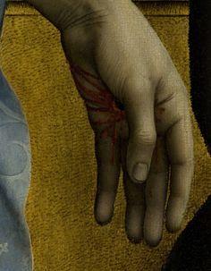 The Descent from the Cross (detail), Rogier van der Weyden, ca.1435-8