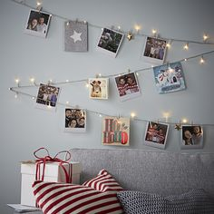 Who says Christmas cards are a thing of the past? Not us. Display yours in style with our fairy light wall! Add some polaroid pictures of you and your guests for a cute and personal touch #FlavoursofXmas