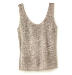 Avon: mark Tank You Knit - You're welcome to wear this top a ton; we'd totally understand-it plays to the fun summer-knits trend, it's airy and lightweight and it's metallicious in a champagne color with a super-cool silver sheen!
