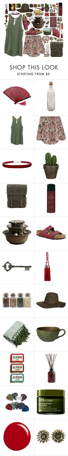 """""""Paprika"""" by wisteriablossom ❤ liked on Polyvore featuring NKUKU, Wilt, Haute Hippie, Humble Chic, John Lewis, Serge Normant, Homedics, Birkenstock, Pier 1 Imports and ...Lost"""