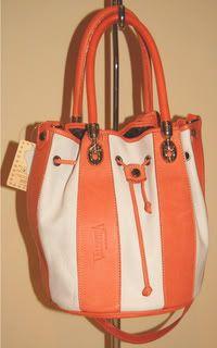 Nwt Authentic Valentina Leather Bucket Style Handbag