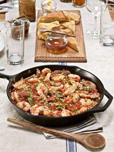 Savannah Red Rice with Shrimp and Smoked Sausage #recipe