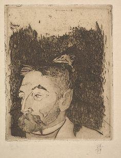 Paul Gauguin (1848–1903) | Portrait of Stéphane Mallarmé | Date: 1891