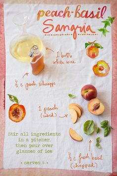 Peach Basil Sangria Ingredients