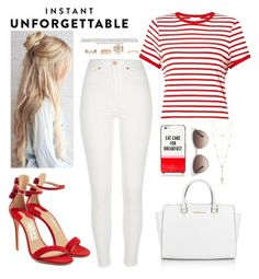 """""""Unforgettable"""" by crybabyallie ❤ liked on Polyvore featuring River Island, Miss Selfridge, Salvatore Ferragamo, Michael Kors, Kate Spade, House of Harlow 1960, Gucci and New Look"""