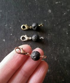 An 8mm lava stone diffuser bead that you can easily add onto any necklace.