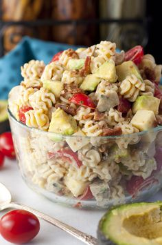 Chicken Club Sausage Pasta Salad recipe has all the flavors of a classic club sandwich in an easy side dish that's ready in a flash for a dinner or picnic!