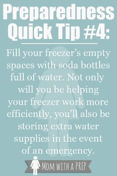 Preparedness Quick Tip #4: Store Water in Unexpected Places - Mom with a PREP