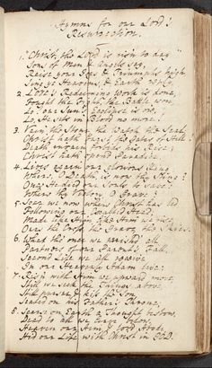 """Manuscript in the hand of Charles Wesley (1707-88) of the hymn """"Christ the Lord is risen today"""": image ref. JRL1005599dc. John Rylands library, University of Manchester"""