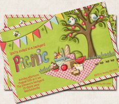 A personal favorite from my Etsy shop https://www.etsy.com/listing/96272791/picnic-party-invitation-green-red
