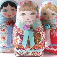 Ideas para el hogar: Muñecas con moldes de  costuras