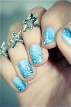 Elsa (Nails by Unknown) #Frozen