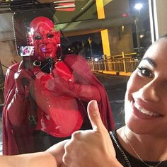Hanging with the Red Devil in tonight's episode of #screamqueens