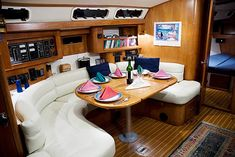 live aboard, sailboat interior, white with accents